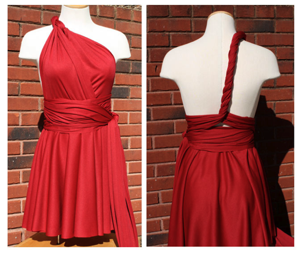 Little Red Infinity Dress Tutorial | Sew Like My Mom