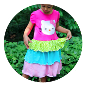 Sew Like My Mom | Twirly Tshirt Dress Tutorial