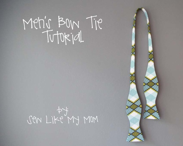 MenS Bow Tie Tutorial  Sew Like My Mom