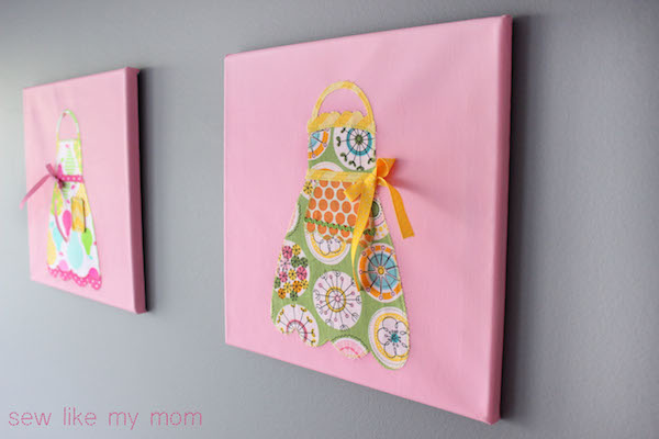 Sew Like My Mom | Appliqued Canvases