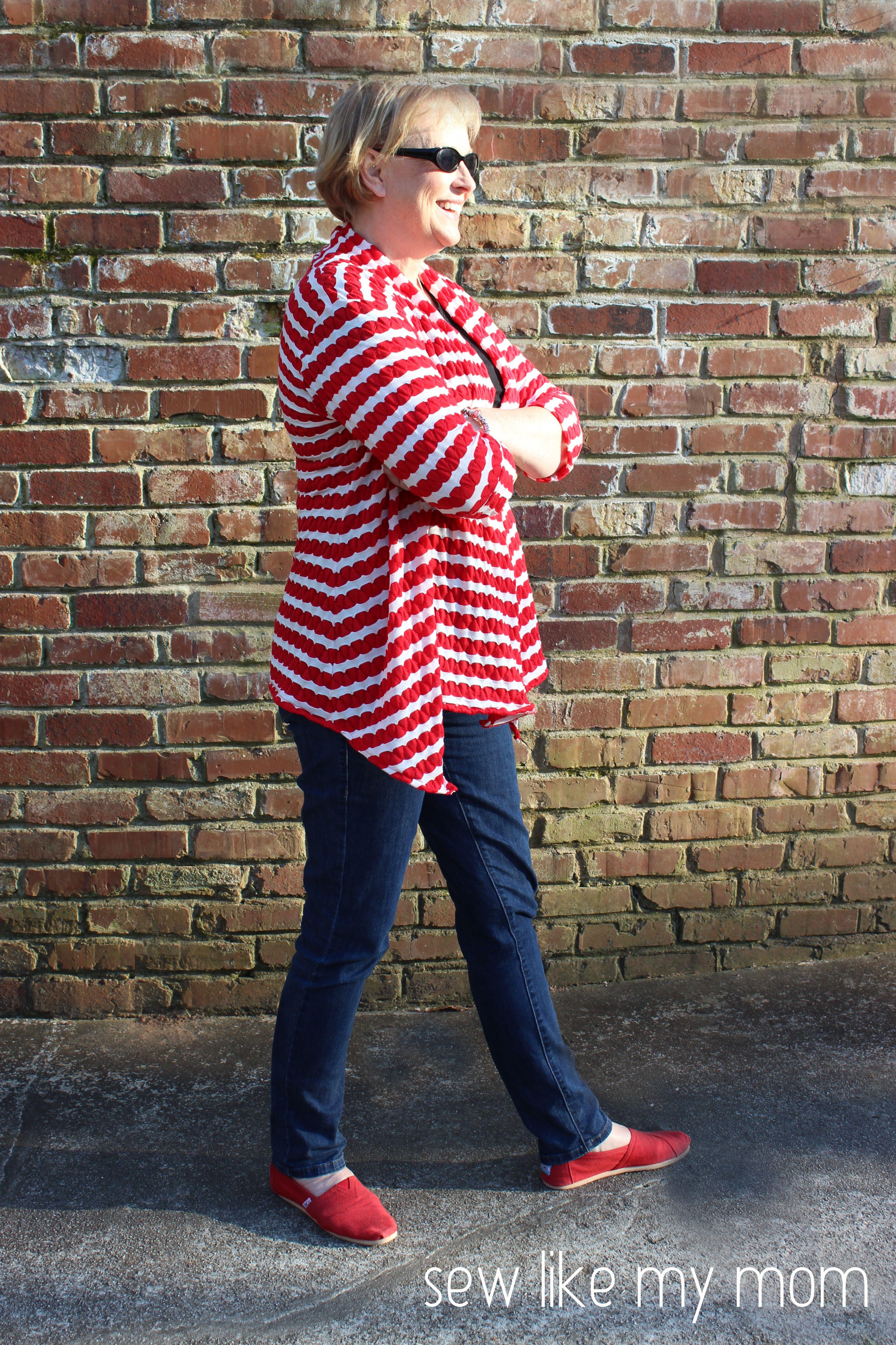 Sew Like My Mom   Swoon's Scarf Neck Cardigan