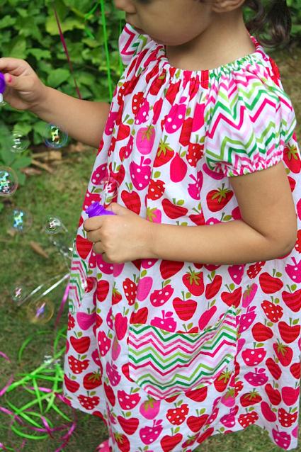 Sew Like My Mom | Short Sleeve Peasant Dress Tutorial