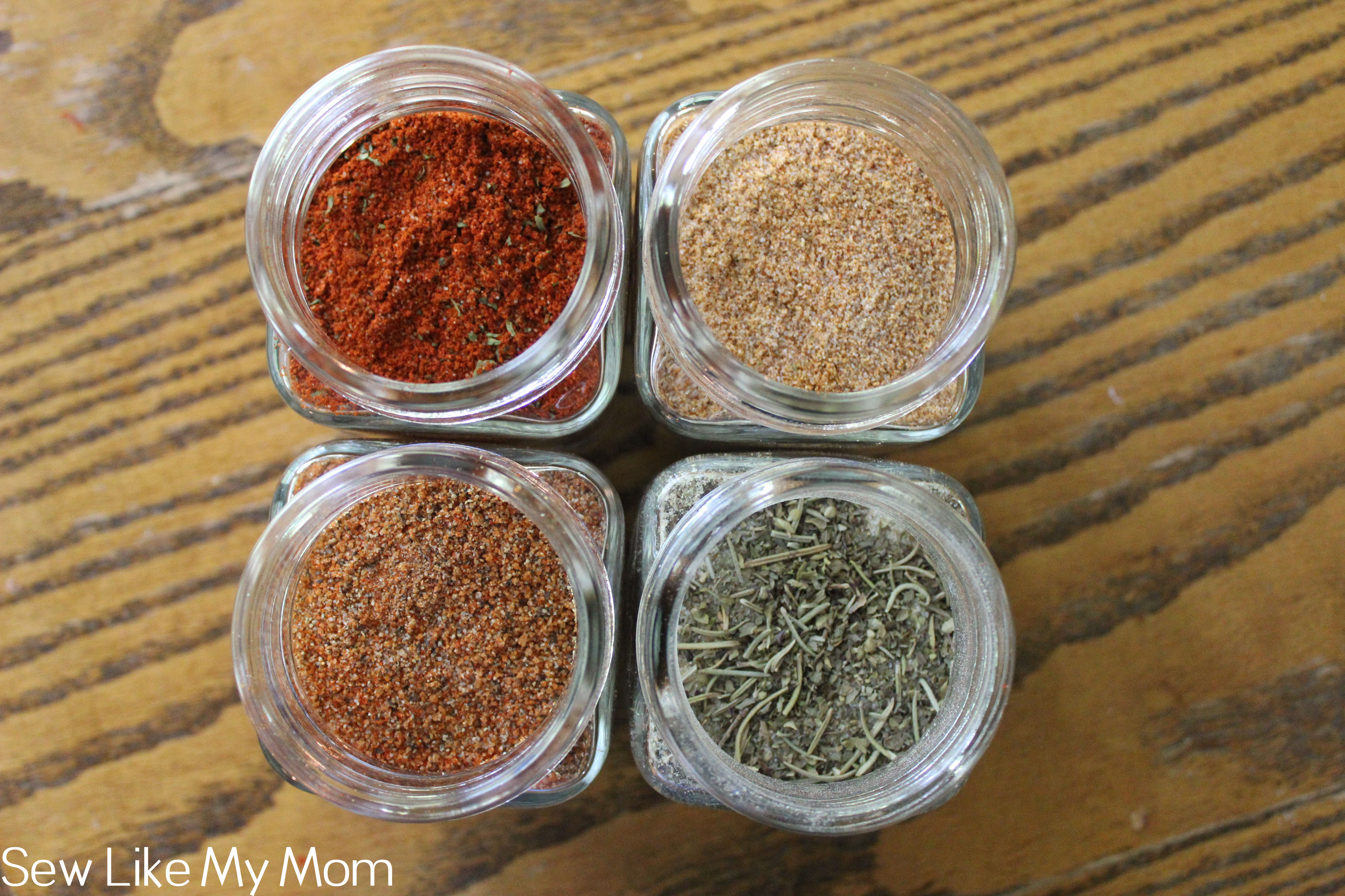 Sew Like My Mom | Homemade Meat Rubs