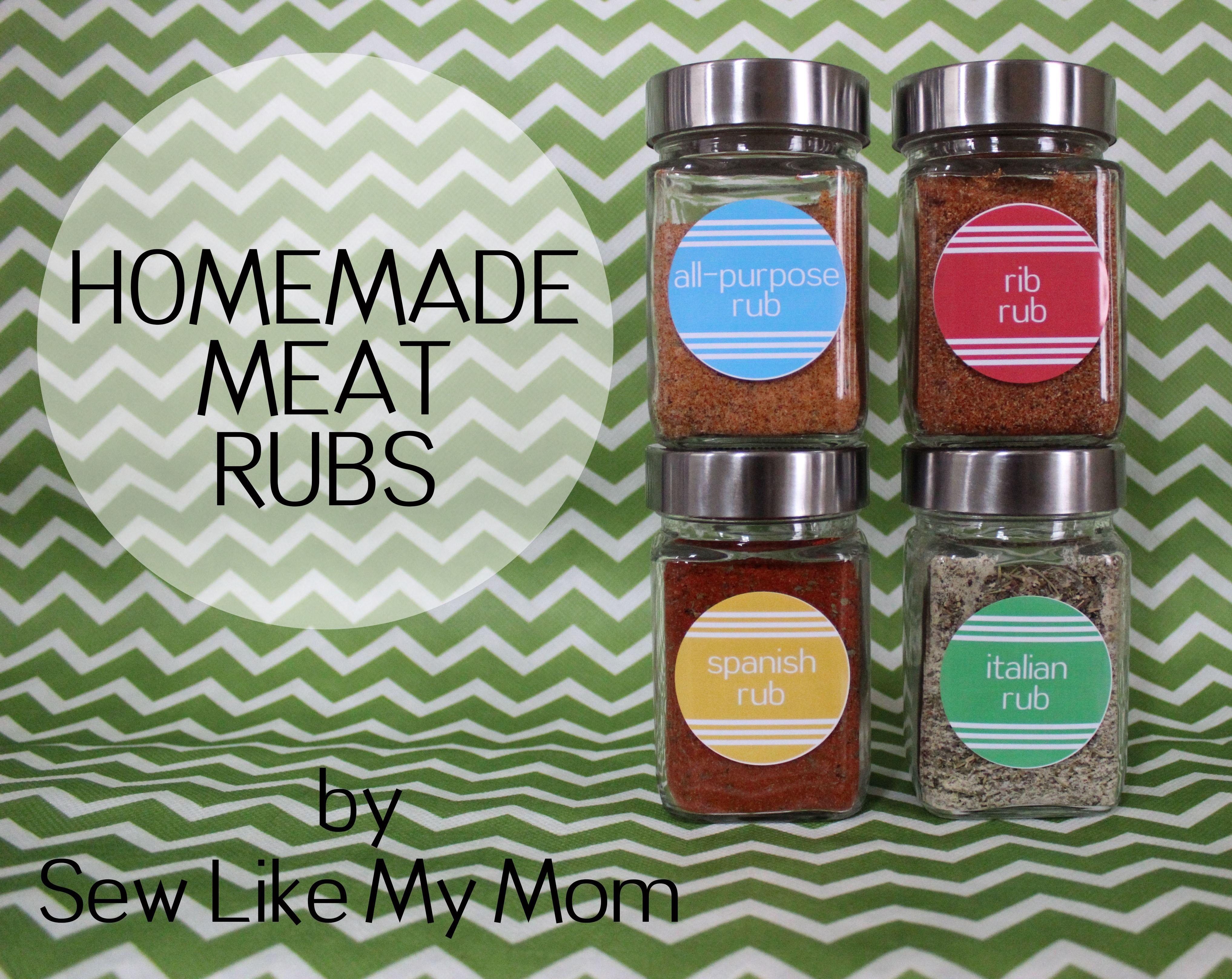 Sew Like My Mom | Homemade Meat Rubs
