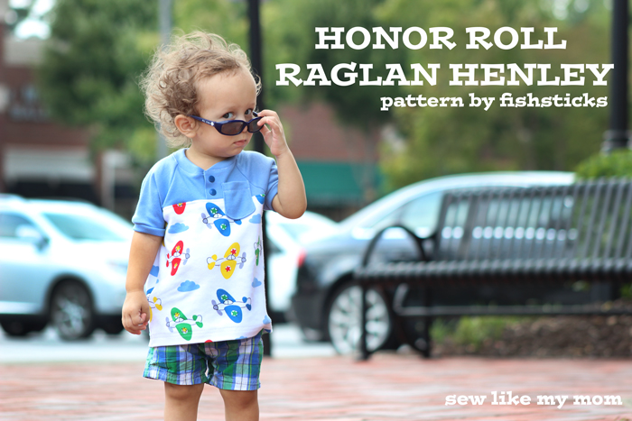 Sew Like My Mom | Honor Roll Raglan Henley