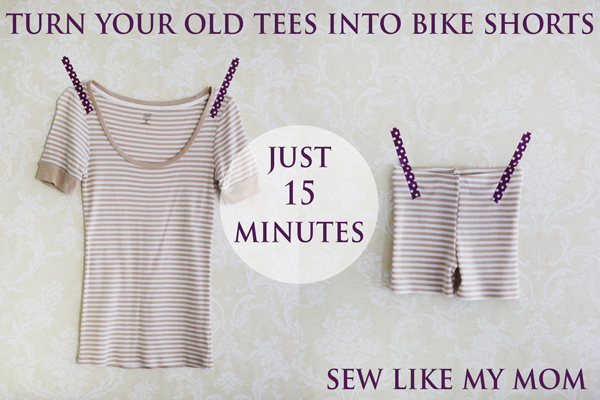 Tees to Shorts | Sew Like My Mom