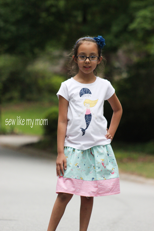 Sew Like My Mom | Flat front skirt