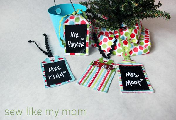 Sew Like My Mom | Fabric Gift Tags