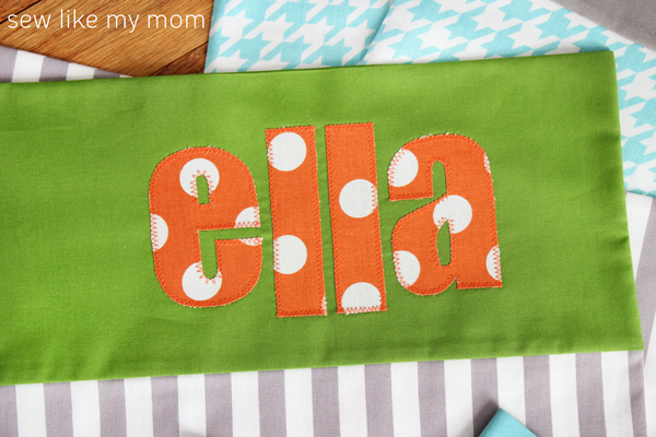 Sew Like My Mom | Applique Pillowcases