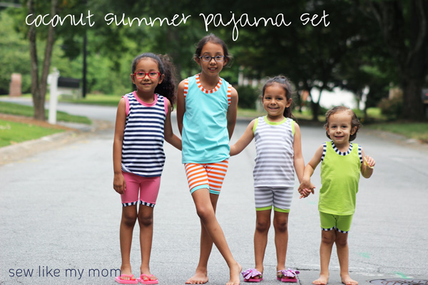Sew Like My Mom | Coconut Summer Pajama Set